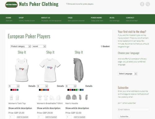 Nuts Poker Clothing re-furbished