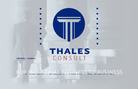 The old Thales Consult website